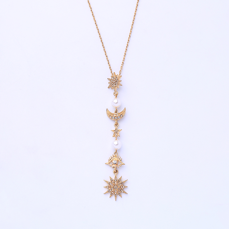 Micro Simulated Crystal Moon And Little Star Pendants Bracelets Bangle For Women