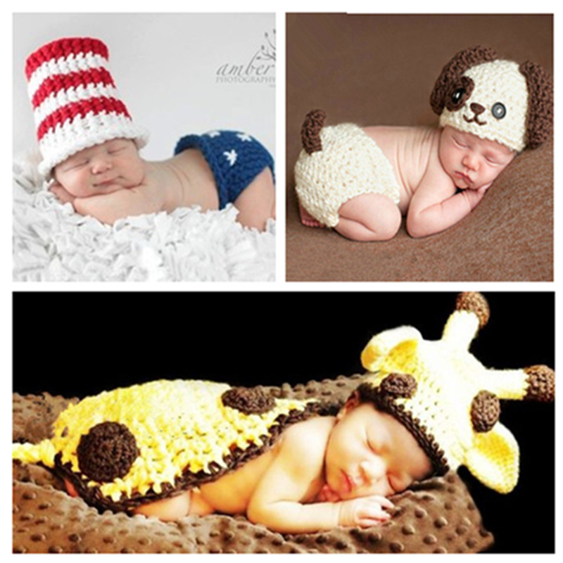Baby pictures clothes collection of neonatal indoor photography costumes of creative fashion baby wool clothes by hand in Clothing Sets from Mother Kids