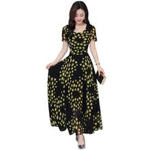 Brand New women vintage dress Elegant Maxi Long ruffles O neck Dresses pleated female casual dress vestidos Female Women