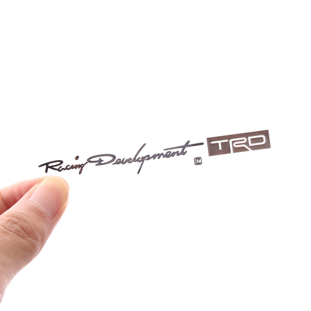 1pcs 9512mm racing development trd motorcycle sticker design best personalized toyota nickel sticker for