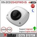 Хик 4 М Сети PoE Камера DS-2CD2542FWD-IS поддержка 3D DNR Встроенный Микро Мини Купольная Камера с IP67 IK08 Защита POE камера