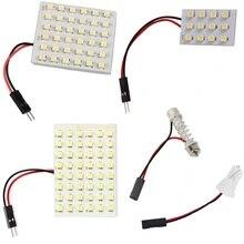 12 36 48 светодиодный панель супер белая автомобильная лампа для чтения карты 1210 smd авто купольная интерьерная лампа на крышу светильник с адаптером T10 Festoon Base