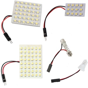 12 36 48 LED Panel Super White Car Reading Map Lamp 1210 smd Auto Dome Interior Bulb Roof Light with T10 Adapter Festoon Base