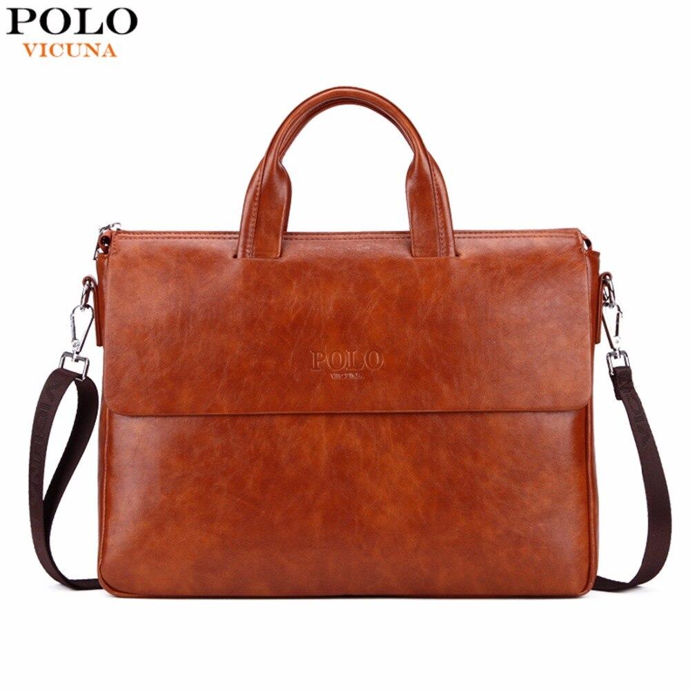 Викуньи поло новое поступление модная деловая мужская сумка яркий цвет мужской кожаный портфель для 14 ''ноутбук кожаный портфель для мужчин