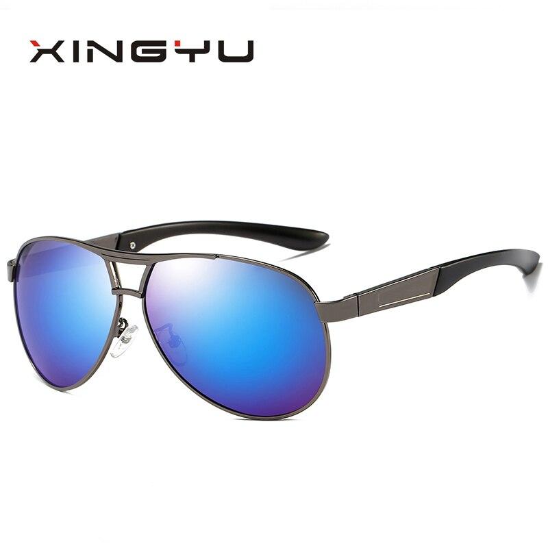 XINGYU Polarisées lunettes de Soleil Hommes Vintage Pilote Conduite Lunettes Hommes Lunettes de Soleil pour Hommes oculos de sol XY0690