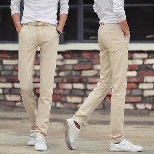 Image 3 - Männlichen Sommer Mode Kleid Hosen männer Koreanischen Stil Dünne Beiläufige Lange Länge Pantalon Homme Männer Slim Fit Anzug Hosen Weiß hosen
