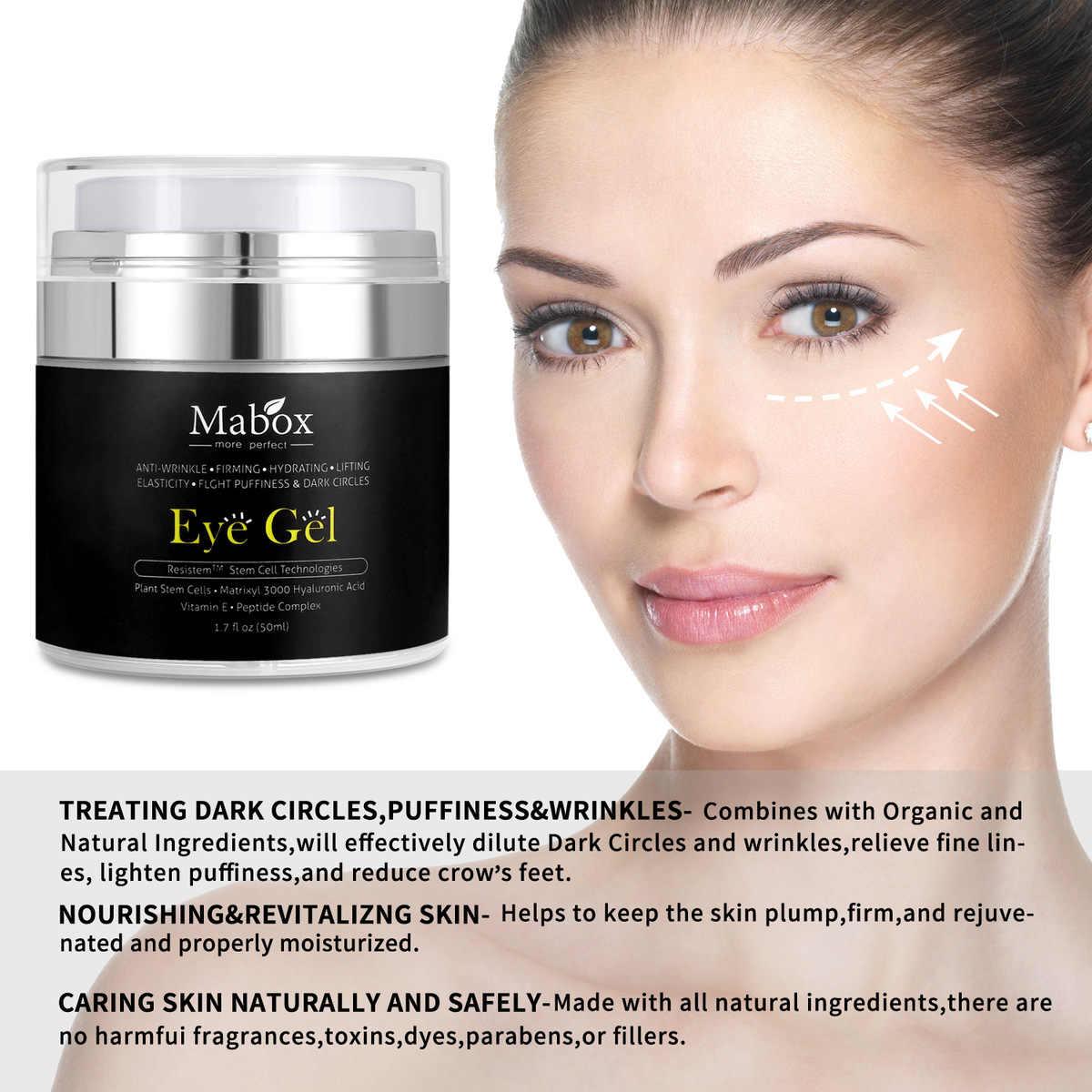 MABOX Direct 50ML Hyaluronzuur Eye Gel Anti-Rimpel Remover Donkere Cirkel Oogcrème Tegen Wallen Anti Aging drop schip