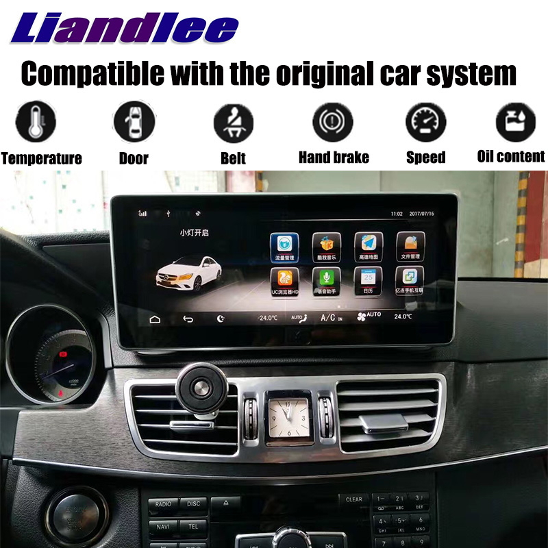 Liandlee Car Multimedia Player NAVI For Mercedes Benz MB E Class C207 A207 2009~2017 Original Car Style Radio GPS Map Navigation wireless control rgb color interior under dash floor accent ambient light for mercedes benz clk mb c208 a208 c209 a209 c207 a207