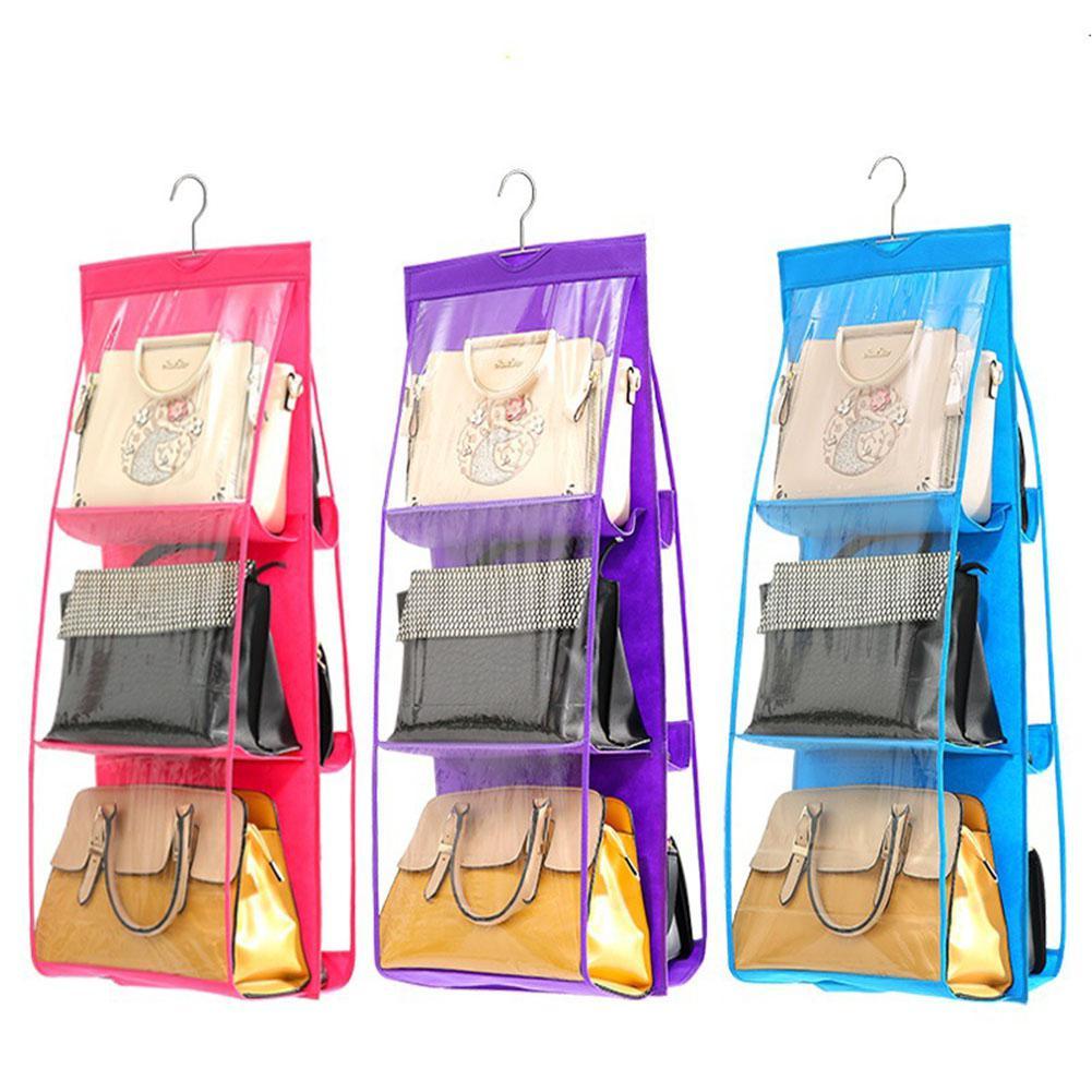 6-карманов хранения сумки Семья Организатор Рюкзак хранения сумки висит сумка для хранения обуви