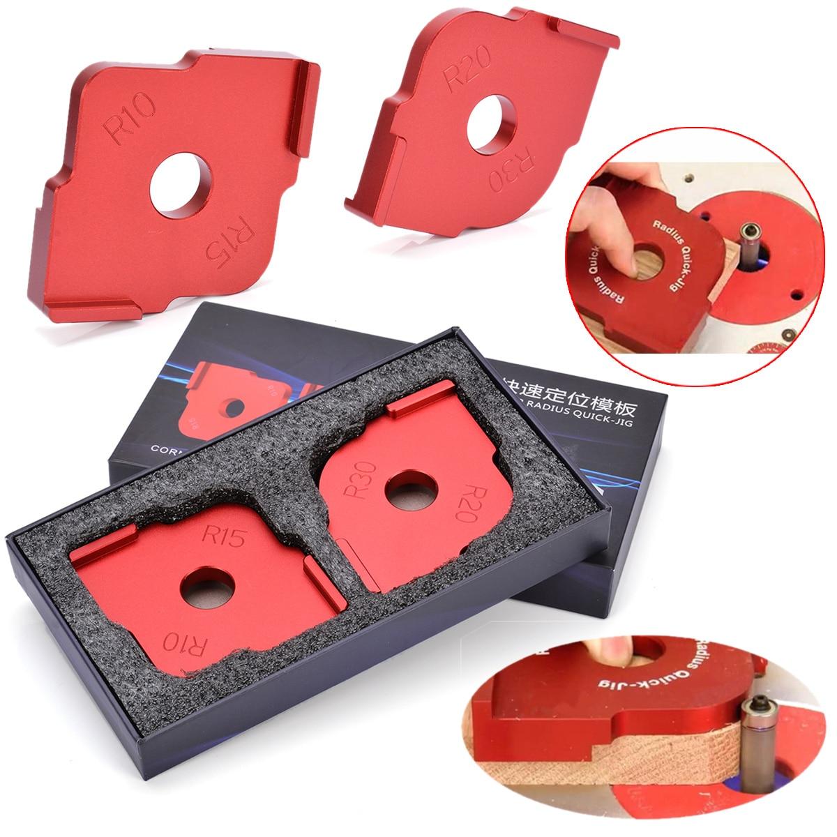 1 Satz Radius Schnell-jig Router Tisch Bit Ecke Jig Vorlagen Mit Box Mayitr Für Holzbearbeitung Werkzeuge