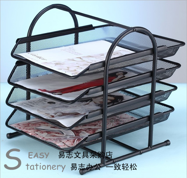 Supplies file holder data rack document tray storage rack desktop metal rack & Supplies file holder data rack document tray storage rack desktop ...