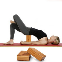 228 * 153 * 76 mm Pure natural bamboo hollow Yoga blocks for women fitness and body building