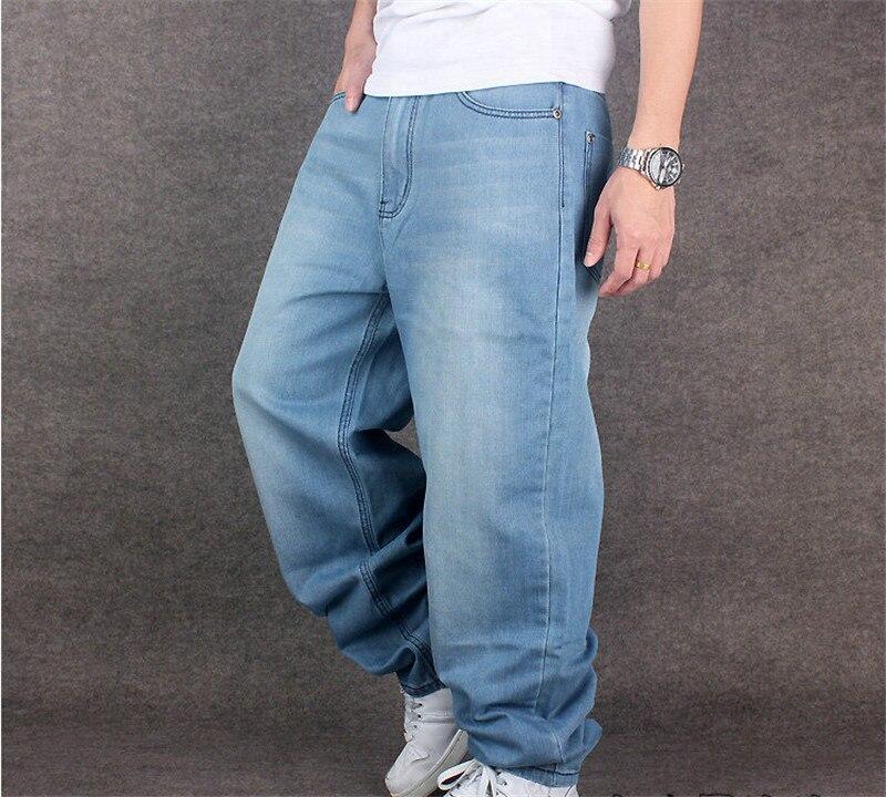 7fbc1520304 2015 Hot hip hop baggy men jeans hip-hop style men s loose rap denim pants  skateboard trousers big size 30