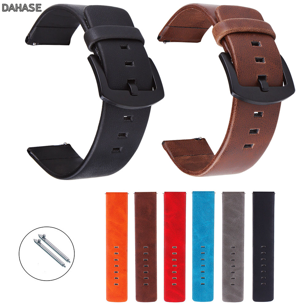 18mm 20mm 22mm 24mm Watchband Retro Leather Watch Strap Watch Band Women Men Wristbands