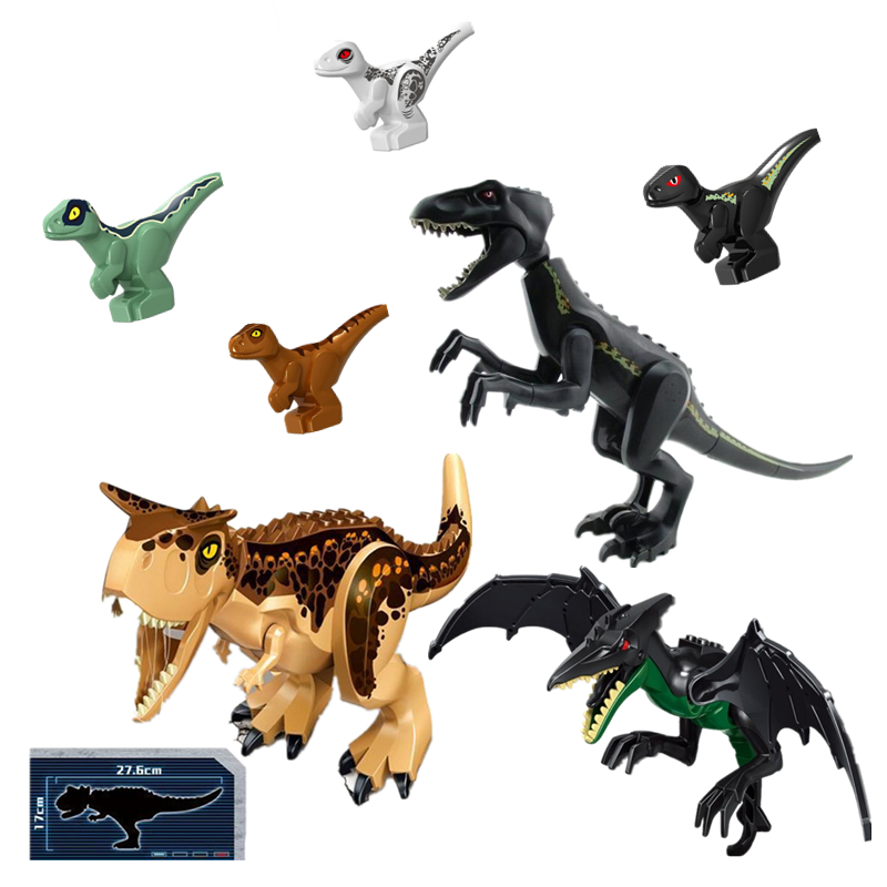 Toys & Hobbies Dr.tong Jurassic World 2 Action Figure Dinosaurs Park Indominus Tyrannosaurs Rex Building Blocks Gift Toys For Children L030-036 Wide Varieties