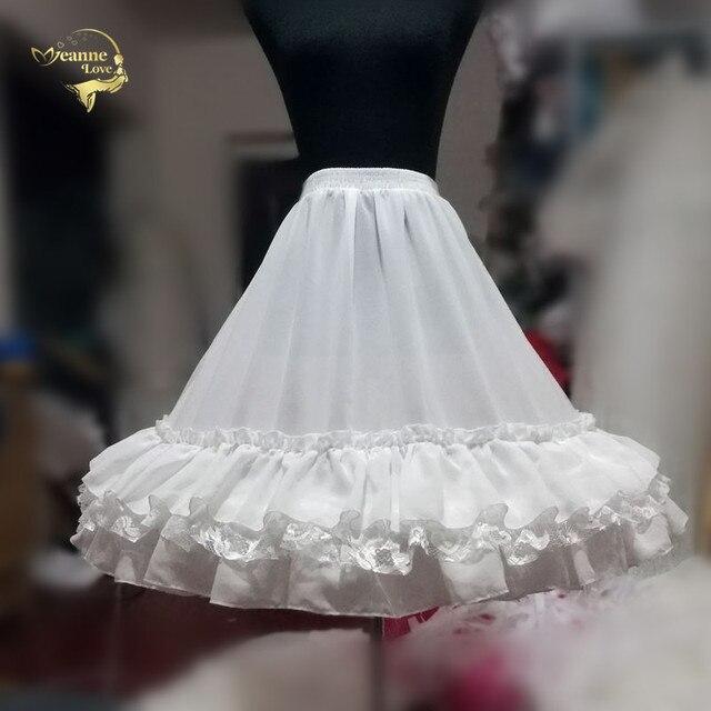 Czarna moda biała suknia balowa podkoszulek huśtawka na krótką sukienkę halka Lolita baletowa spódniczka tutu spódnica Rockabilly krynolina
