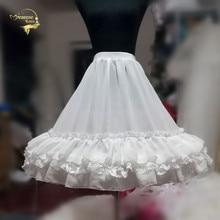 Moda preto Branco vestido de Baile Balanço Underskirt Para Vestido Curto Petticoat Lolita Tutu do Bailado Saia Crinolina Rockabilly