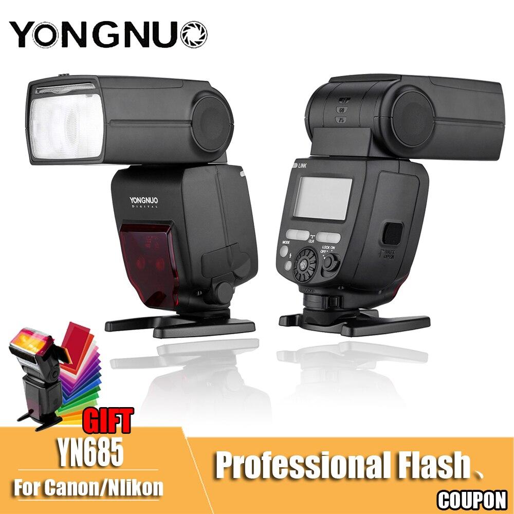 YN685EX Flash Speedlite YONGNUO 2.4G Wireless HSS 1/8000s Radio Slave for Canon for Nikon support YN662N YN560 TX RF605 RF603