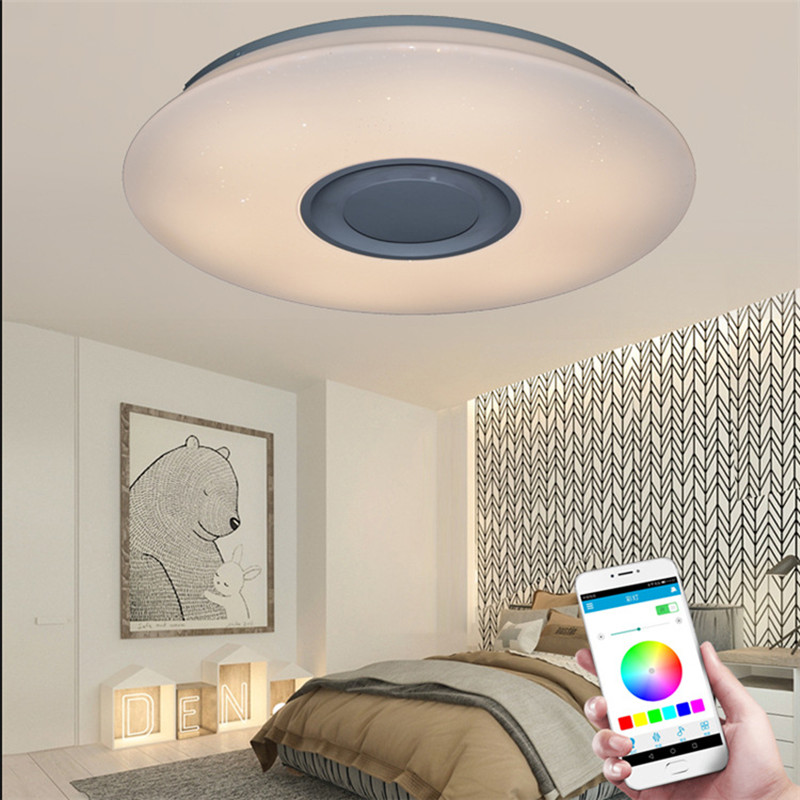 Remote control smart phone bluetooth music ceiling light childrens bedroom study decoration smart lampsRemote control smart phone bluetooth music ceiling light childrens bedroom study decoration smart lamps