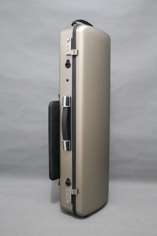 Boîtier de violon en or 4/4 matériaux composites portant le poids 150 kg deux code de verrouillage couleur rouge