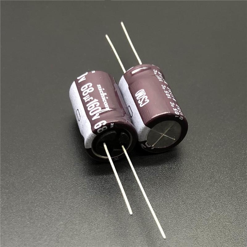 5pcs/50pcs 68uF 160V NICHICON CS Series 12.5x20mm High Ripple Current High Reliability 160V68uF Aluminum Electrolytic Capacitor