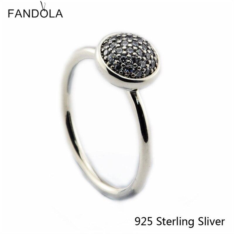 CKK 925 Sterling Silver Dazzling Snubní prsteny pro ženy Originální evropský styl Módní DIY šperky CKK
