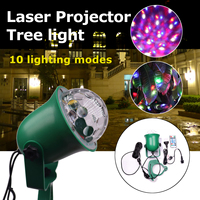 110 220V Outdoor Laser Projector Tree Light LED Lamp 10 Color for Bar Party Christmas Garden Holiday Tree Decor Waterproof IP65