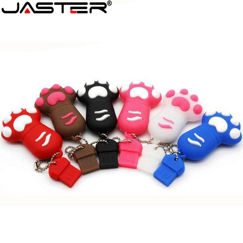 JASTER USB 2.0 Cartoon Bear Claw Usb Flash Drive 4gb 8gb 16gb 32gb 64gb Cat's Claw Pendrive Gift Usb Stick Free Shipping