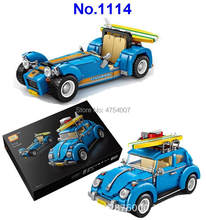 1114 2in1 technic vehicle racing car mini diamond model building blocks Toy(China)