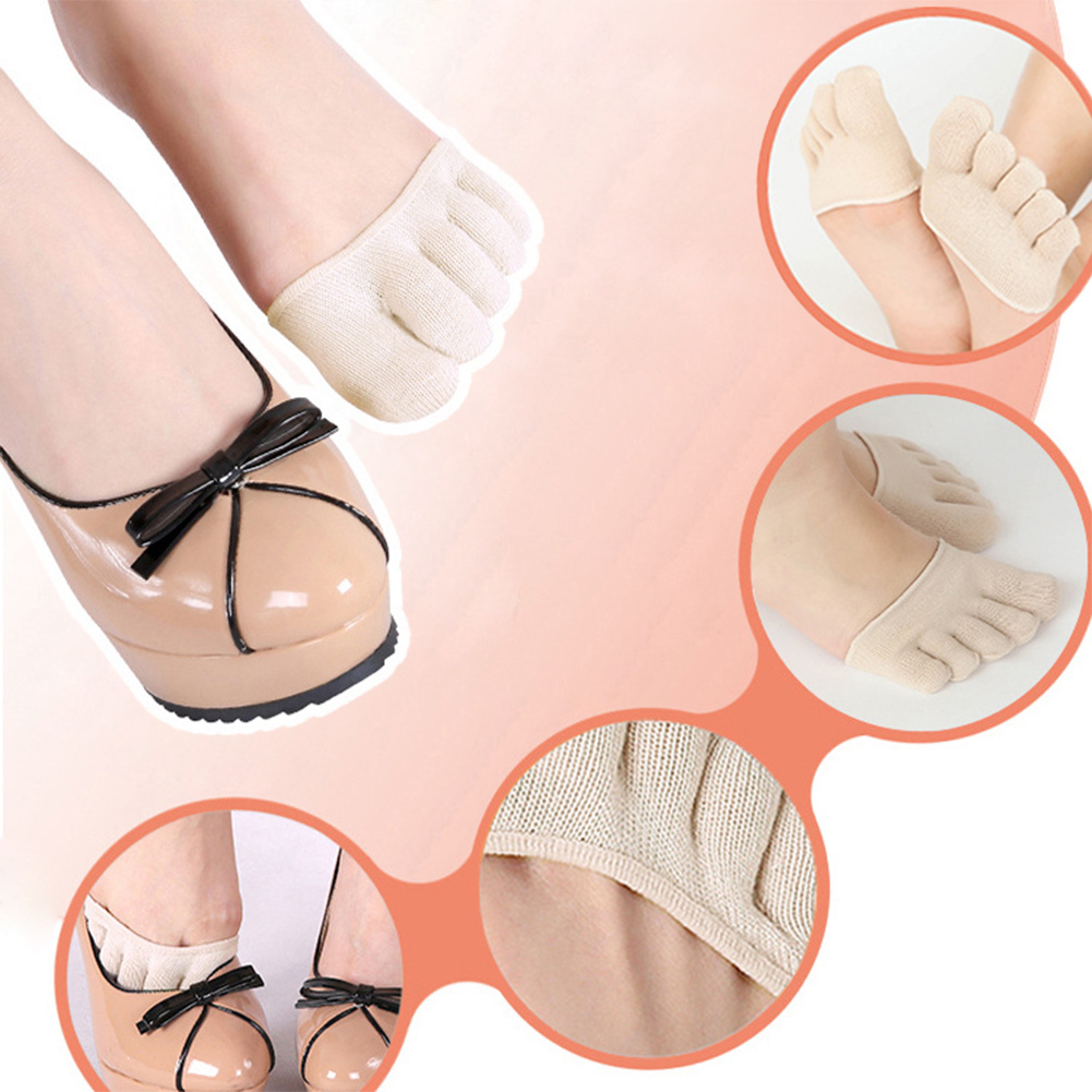 1 par de algodón antideslizante medias plantillas almohadillas cojín metatarsiano dolor en los pies apoyo calcetines para los talones mujeres cuidado de los pies