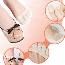 1 pair Anti Slip Cotton Half Insoles Pads Cushion Metatarsal Sore Forefoot Support