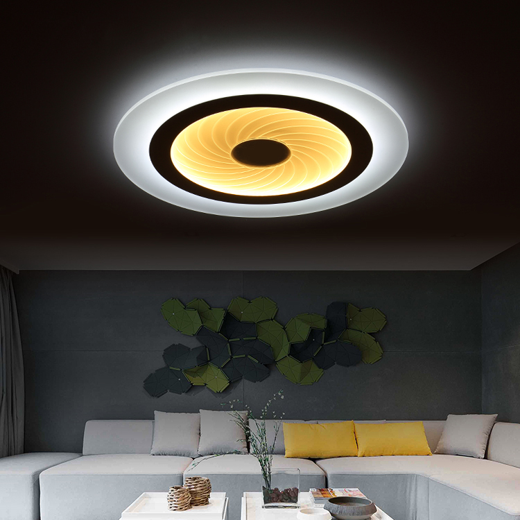 Modern LED Ceiling Lights With 2.4G RF Remote Group Controlled Dimmable Color For Livingroom Bedroom led ceiling Lamps lustre noosion modern led ceiling lamp for bedroom room black and white color with crystal plafon techo iluminacion lustre de plafond