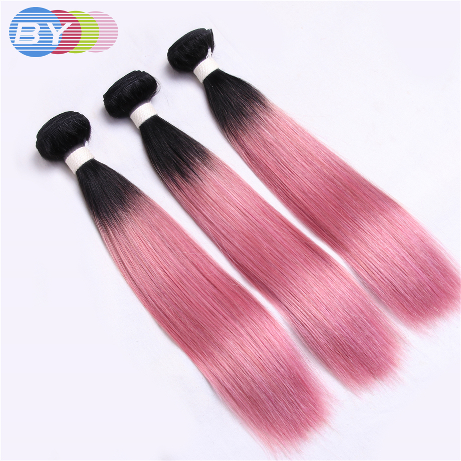 By Hair Pre Colored Non Remy Hair Extension Human Hair Weave 3