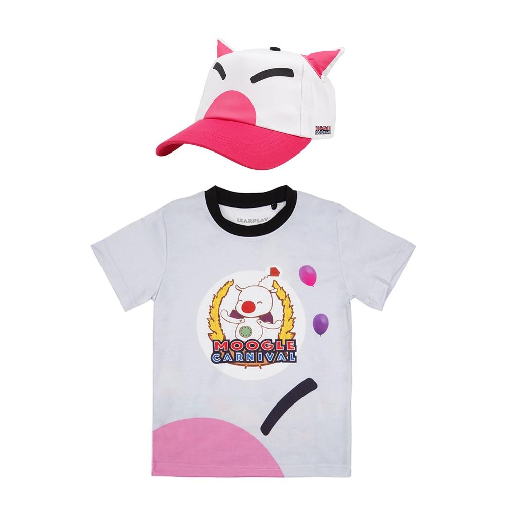 Final Fantasy XV Noctis Lucis Caelum FF15 Cosplay T shirt Hat Moogle Chocobo Carnival Tee Shirt