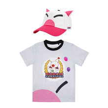 Final Fantasy XV Noctis Lucis Caelum FF15 Cosplay T-shirt Hat Moogle Chocobo Carnival Tee Shirt Cap Kid Adult Christmas Costumes