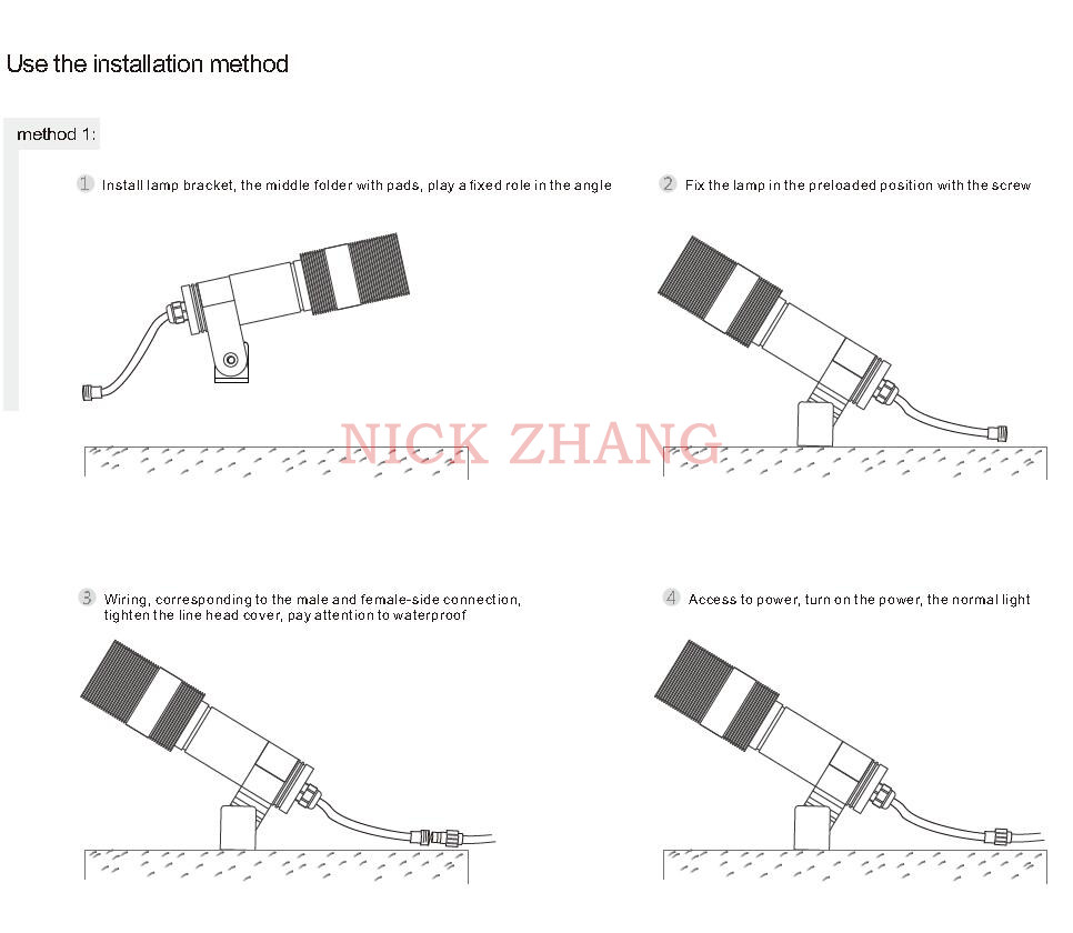 24v Spotlight Wiring Diagram Electrical 24 Volt Led Outdoor Waterproof Dc12v Low Voltage Landscape Lighting Motor Starter