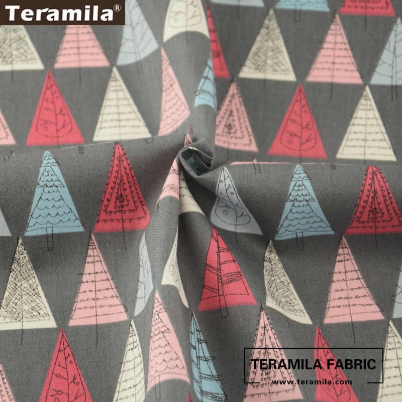 Teramila Fabric Printed Cartoon Trees Patterns 100% Cotton High Quality Sewing Tissue Quilting Patchwork Tecido Dolls CM