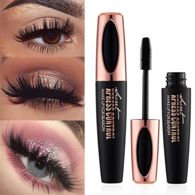 US Stock 4D Silk Fiber Lash Mascara Waterproof Rimel Mascara For Eyelash Extension Thick Lengthening Eye Lashes Cosmetics Tools