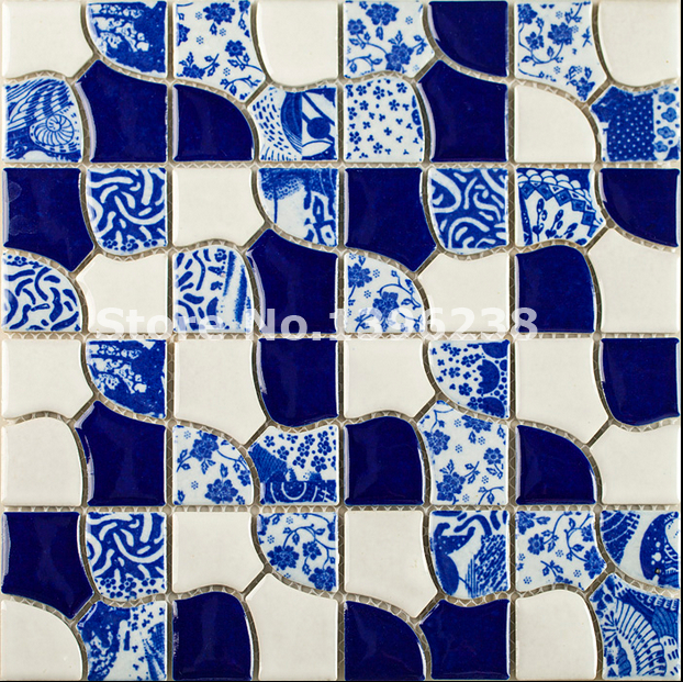 Blue parquet glazed ceramic mosaic tile,Pocelain mosaic,kitchen backsplash tiles,mosaique,Bathroom Shower wall tiles,LSQHC01 прорезыватели mosaic слингобусы пингвин