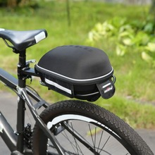 High Quality Bicycle Rear Seat Pack Bag Hard Shell Quick Release Zipper Mountain Road Bike Saddle Bag Waterproof Cycling Pannier