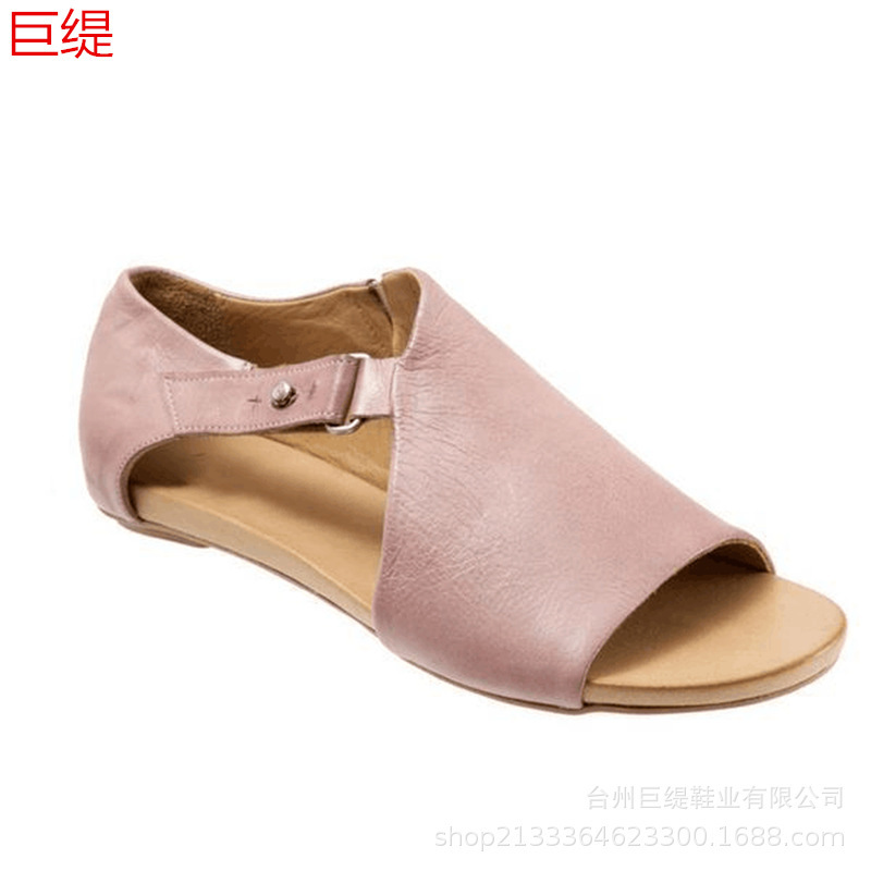 Summer Womens Sandals Flat complex Fish mouth belt buckle Buckle Solid color PU Peep-toe Fashion Casual Walking Woman shoesSummer Womens Sandals Flat complex Fish mouth belt buckle Buckle Solid color PU Peep-toe Fashion Casual Walking Woman shoes