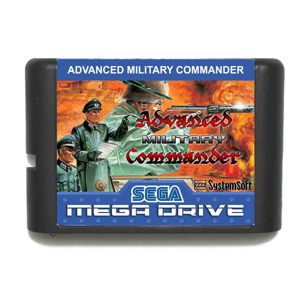 Advanced Military Commander 16 bit MD Game Card For Sega Mega Drive For Genesis