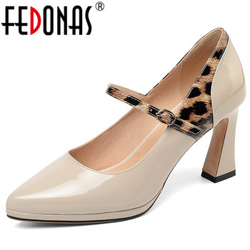 FEDONAS 2019 Spring Summer New Vintage Pointed Toe Strange Style Women Pumps Buckle Mary Janes Elegant Party Prom Shoes Woman