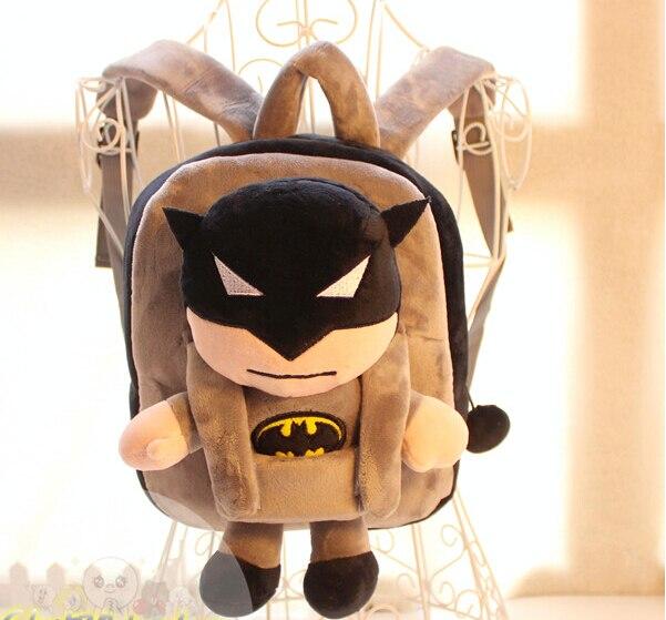 Gift for baby 1pc 25cm stereo Batman hero little plush doll cute cool children backpacks Satchel