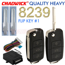 Quality heavy flip key keyless entry system for old vw Volkswagen Santana Jetta remote control door lock locking CHADWICK 8239