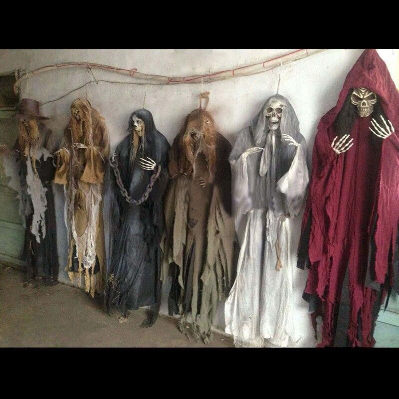 165 centímetros Halloween Pendurado Fantasma Assombrado Casa Decorações de Halloween Horror Terror Assustador Escapar Adereços Tema Do Partido Ornamento Gota 1pc
