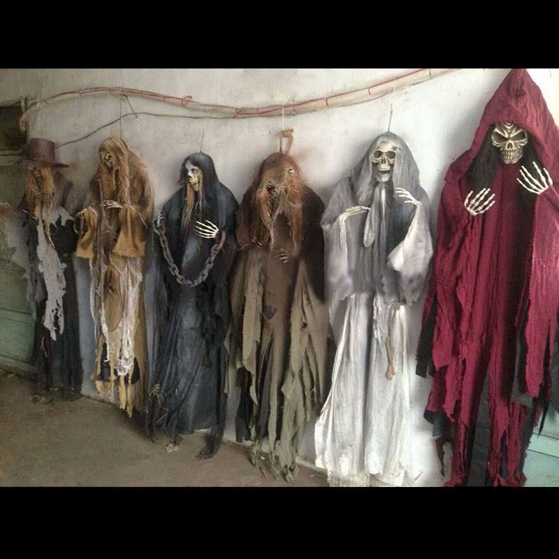 165 cm Halloween Appeso Fantasma Haunted House Fuga di Orrore di Halloween Decorazioni Terrore Spaventoso Puntelli Tema Del Partito di Goccia Ornamento 1 pz