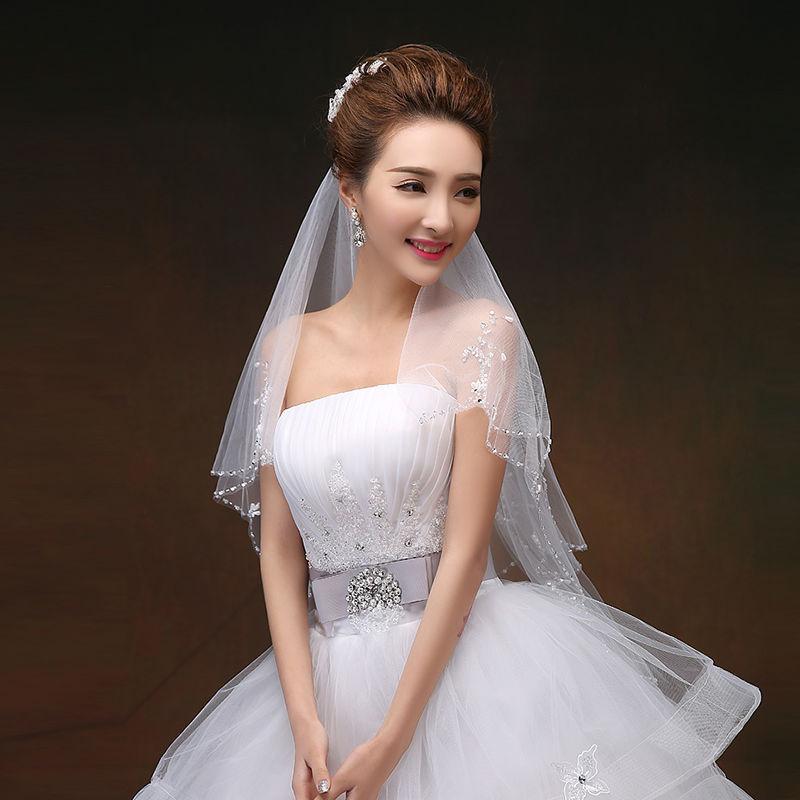 Wedding Veils Styles: 2015 New Style Bridal Veil Short Design 2 Layer Wedding