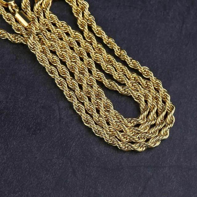 Rope Chain Gold Necklace...