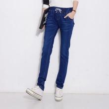 Aliexpress горячая стиль Sexy MS Haroun джинсы Упругие талии джинсы ноги харлан женские брюки отдых троса джинсы